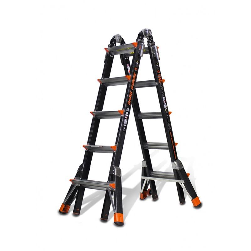 Little Giant Dark Horse Model 22 Fibreglass Telescopic Ladder 1.5m - 5.7m image