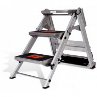 LITTLE GIANT Safety Step Stair Ladder 3 Steps No Rail 0.69m