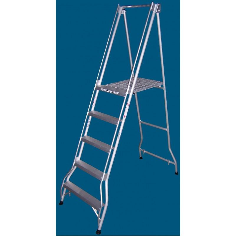 Allweld Aluminium Platform Ladder 1.36m