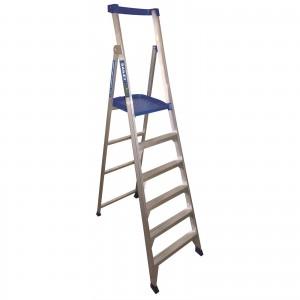 BAILEY P150 Aluminium Platform Ladder 6 Steps 9ft/6ft (2.7m/1.8m)