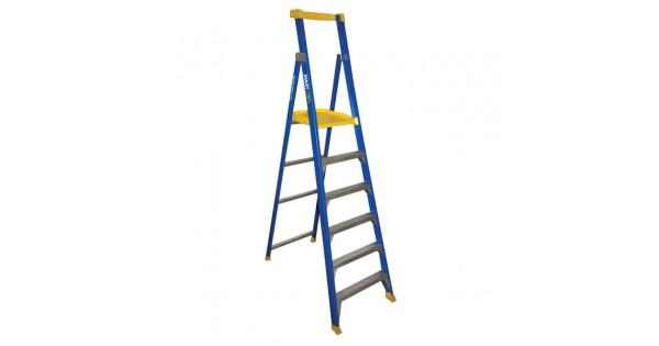 Bailey Fibreglass P150 Platform Ladder 9ft 6ft 2 7m 1 8m