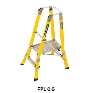 BRANACH Fibreglass WorkMaster 450mm Safety Platform Ladder 2 Step 06m Height