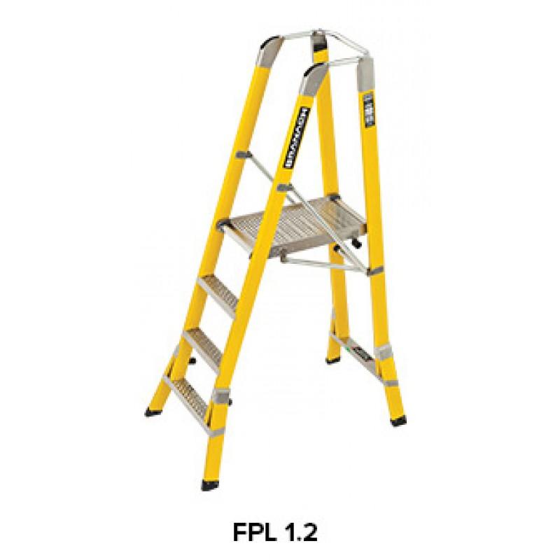 Branach Fibreglass Workmaster 450mm Safety Platform Ladder