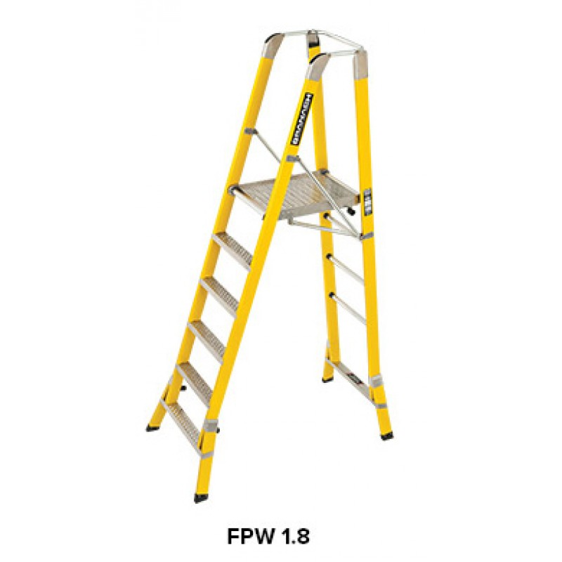 Branach Fibreglass Workmaster 550mm Safety Platform Ladder