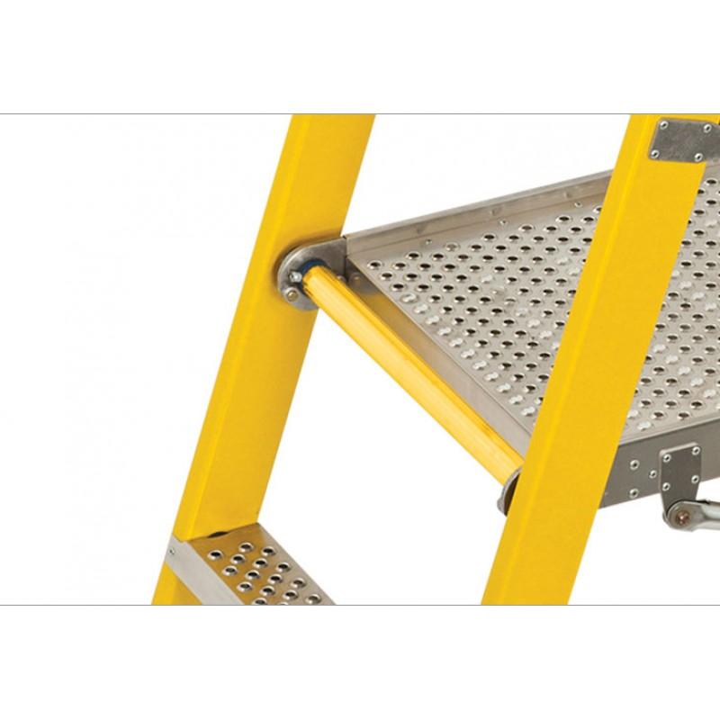 BRANACH Fibreglass CorrosionMaster Safety Platform Ladder 2 Step 06m Height