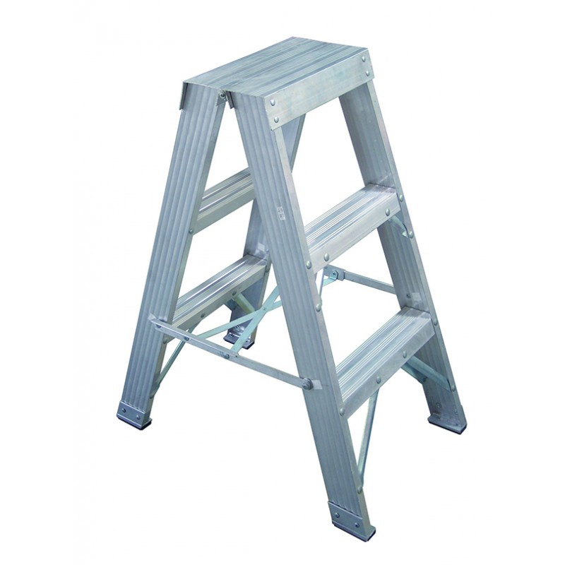 CLIMBMAX Aluminium Double Sided Step Ladder 120 kg 4ft 1.2m image