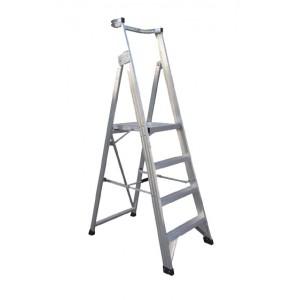 CLIMBMAX Aluminium Platform Ladder 3 Steps 6ft/3ft (1.8m/0.9m)