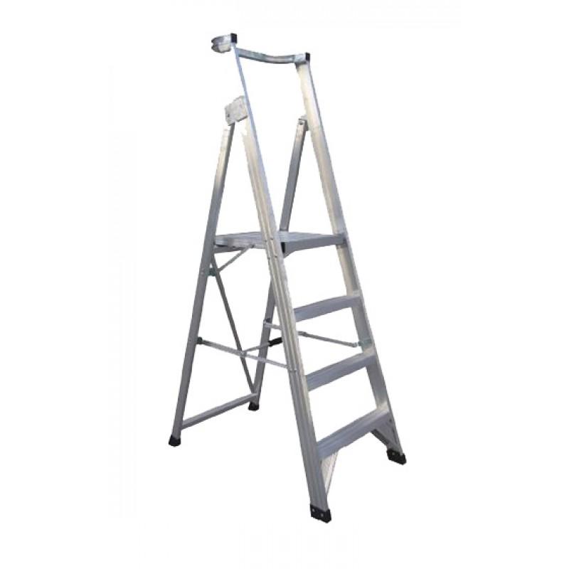 CLIMBMAX Aluminium Platform Ladder 3 Steps 6ft/3ft (1.8m/0.9m) image