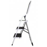 Steel Step Ladder 3 Steps with Handrail 100 Kg