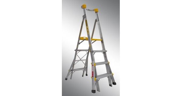 Gorilla Aluminium Adjustable Platform Ladder 1 2m 1 8m