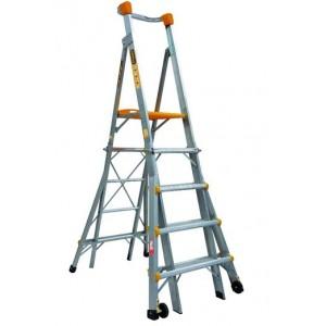 GORILLA Aluminium Adjustable Platform Ladder 1.5m - 2.4m