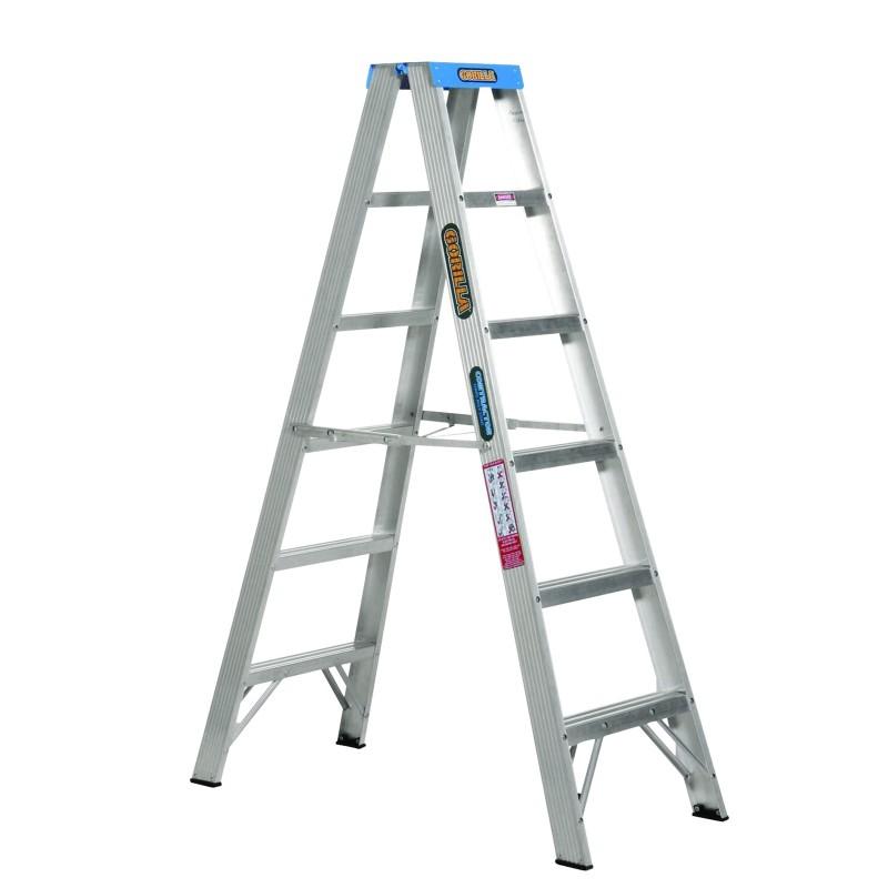 Gorilla Aluminium Double Sided Step Ladder 120 Kg 6ft 1 8m