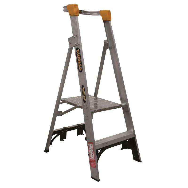 Gorilla Aluminium Platform Ladder 2 Steps 5ft 2ft 1 5m 0