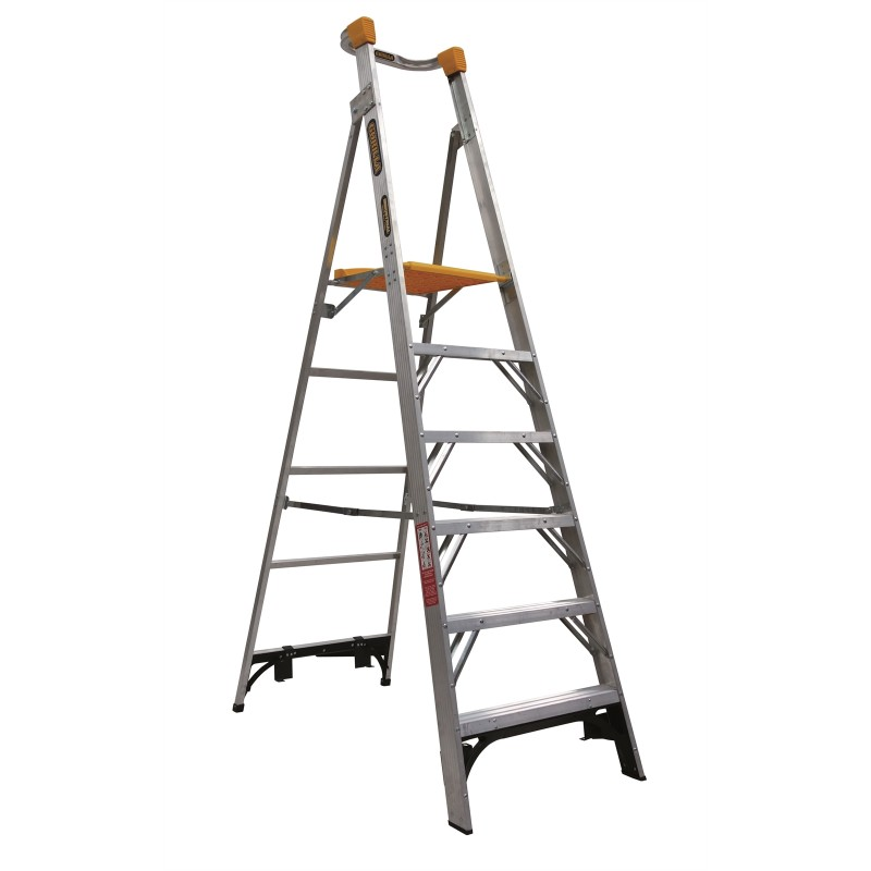 Gorilla Aluminium Platform Ladder 6 Steps 9ft 6ft 2 7m 1