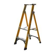 GORILLA Fibreglass Platform Ladder 2 Steps 5ft/2ft (1.5m/0.6m)