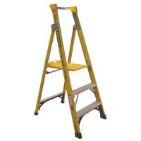 GORILLA Fibreglass Platform Ladder 3 Steps 6ft/3ft (1.8m/0.9m)