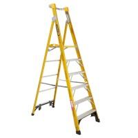 GORILLA Fibreglass Platform Ladder 6 Steps 9ft/6ft (2.7m/1.8m)