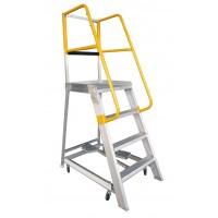 GORILLA Aluminium Order Picking Ladder 200kg 1.2m