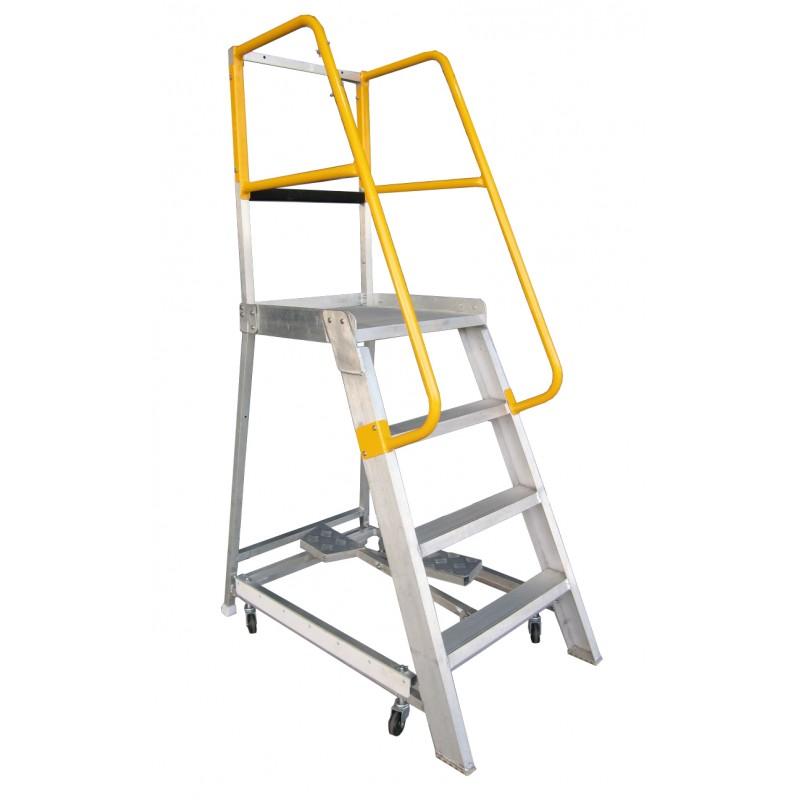 Gorilla Aluminium Order Picking Ladder 200kg 1 2m Ladder
