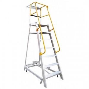 GORILLA Aluminium Order Picking Ladder 200kg 2.1m