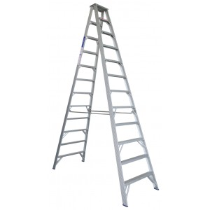 INDALEX Pro Series Aluminium Double Sided Step Ladder 12ft 3.7m