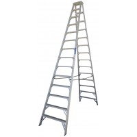 INDALEX Pro Series Aluminium Double Sided Step Ladder 14ft 4.3m