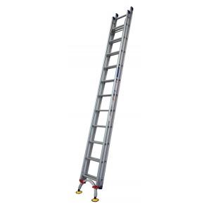 INDALEX Pro Series Aluminium Extension Ladder 26ft 4.4m-7.8m with Arc Leveler