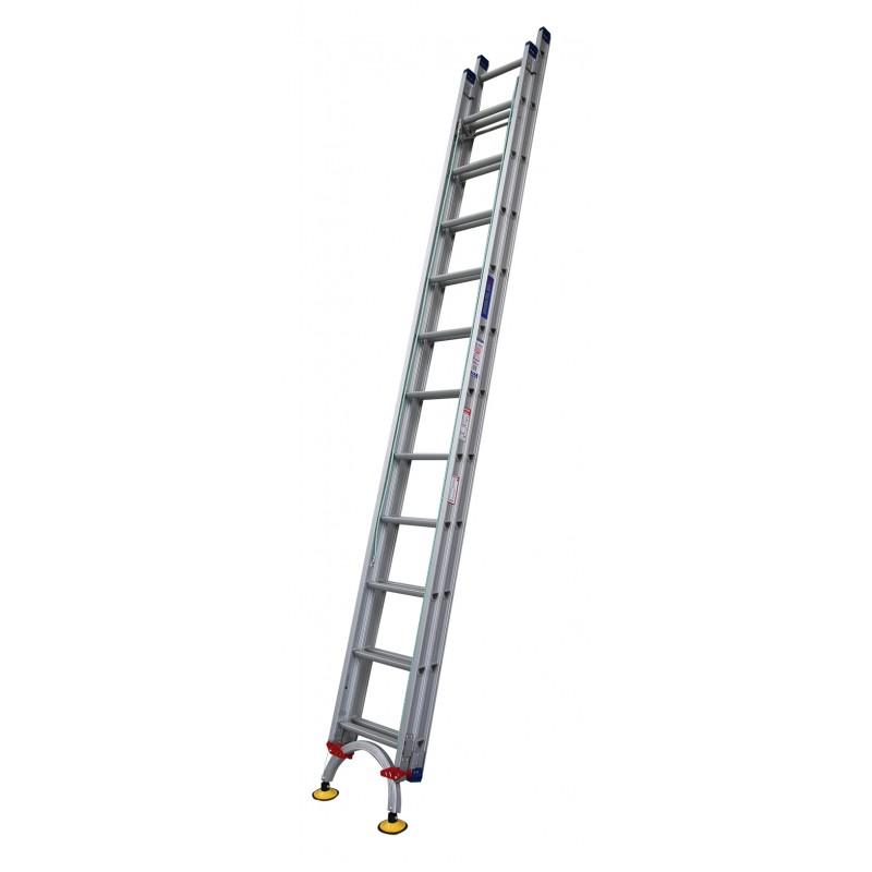 Indalex Pro Series Aluminium Extension Ladder 30ft 5 0m 9 0m With