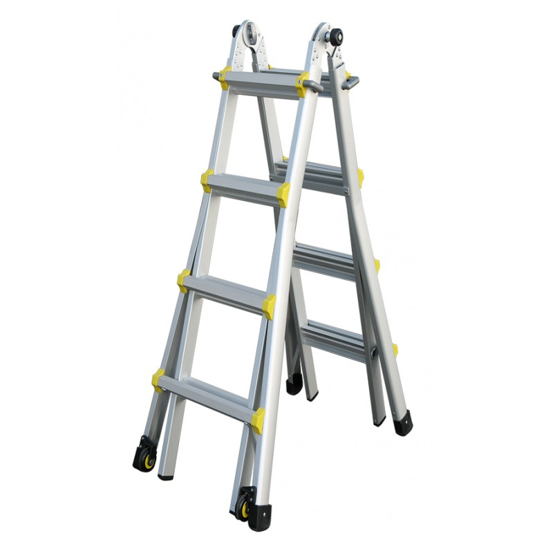 Aluminum Telescopic Ladder : Indalex pro series aluminium telescopic ladder ft m