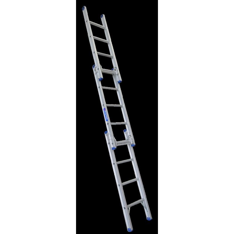 INDALEX Pro Series Aluminium Triple Extension Ladder 15ft 1.7m - 4.5m