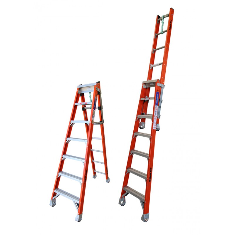 Indalex Pro Series Fibreglass Step Extension Ladder 7ft 2