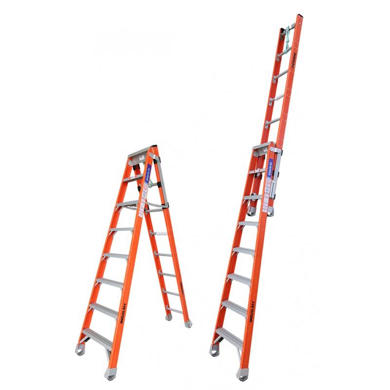 Indalex Pro Series Fibreglass Step Extension Ladder 8ft 2