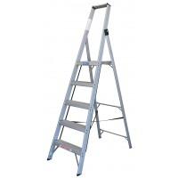 INDALEX Tradesman Aluminium Slimline Platform Ladder 5 Steps 2.4m/1.5m