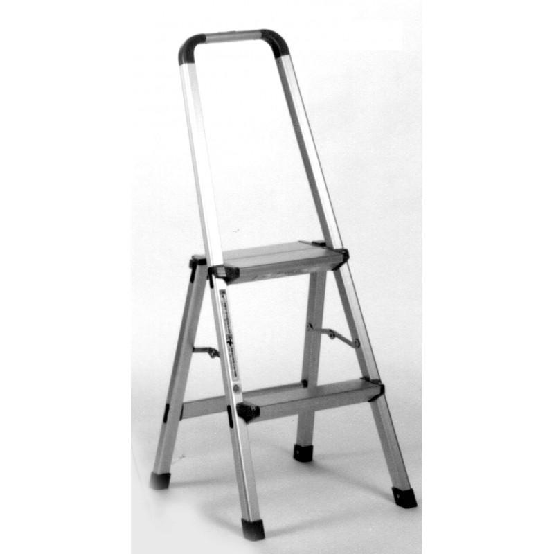 aluminium step ladder. INDALEX Aluminium Step Ladder With Handrail 2 Steps 0.6m