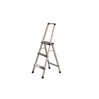 INDALEX Aluminium Step Ladder with Handrail 3 Steps 0.8m