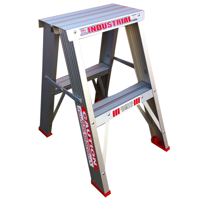 INDALEX Tradesman Aluminium Double Sided Step Ladder 2ft 0.6m