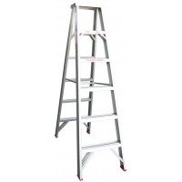 INDALEX Tradesman Aluminium Double Sided Step Ladder 6ft 1.8m