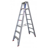 INDALEX Tradesman Aluminium Double Sided Step Ladder 7ft 2.1m