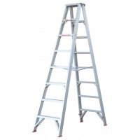 INDALEX Tradesman Aluminium Double Sided Step Ladder 8ft 2.4m