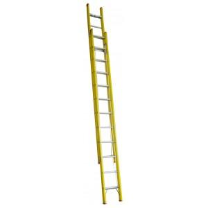 INDALEX Tradesman Fibreglass Extension Ladder 22ft 4.0m-6.7m