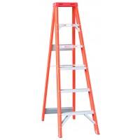 INDALEX Tradesman Fibreglass Single Sided Step Ladder 7ft 2.1m