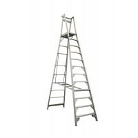 INDALEX Pro Series Aluminium Platform Ladder 12 Steps 15ft/12ft (4.6m/3.6m)