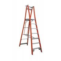 INDALEX Pro Series Fibreglass Platform Ladder 7 Steps 10ft/7ft 3.0m/2.1m