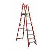 INDALEX Pro Series Fibreglass Platform Ladder 9 Steps 12ft/9ft (3.7m/2.7m)