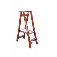 INDALEX Pro Series Fibreglass Platform Ladder 2 Steps 5ft/2ft (1.5m/0.6m)