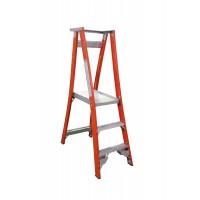INDALEX Pro Series Fibreglass Platform Ladder 3 Steps 6ft/3ft (1.8m/0.9m)