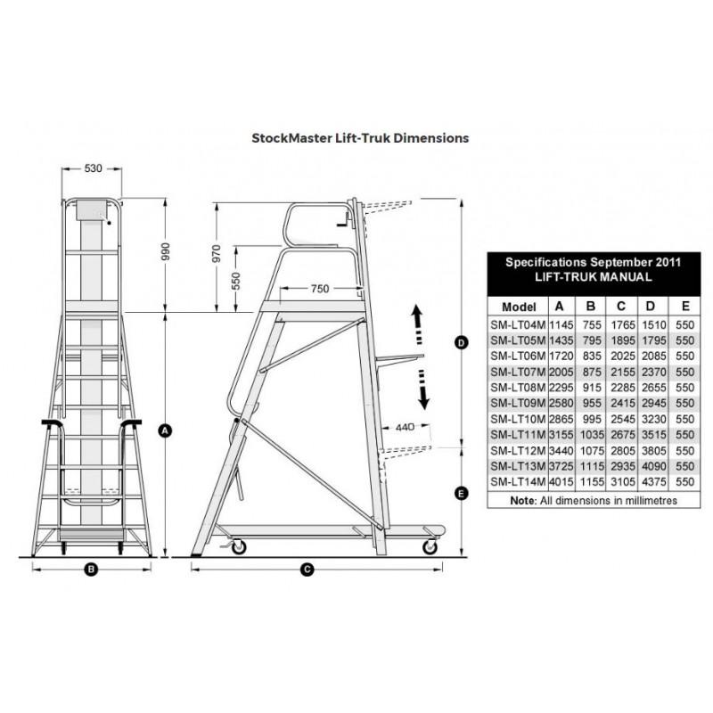 Stockmaster lift truck order picking ladder 2580m ladder central stockmaster lift truck order picking ladder 2580m ccuart Gallery