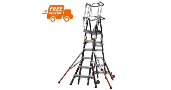 Little Giant Compact Cage Adjustable Platform Ladder 6ft