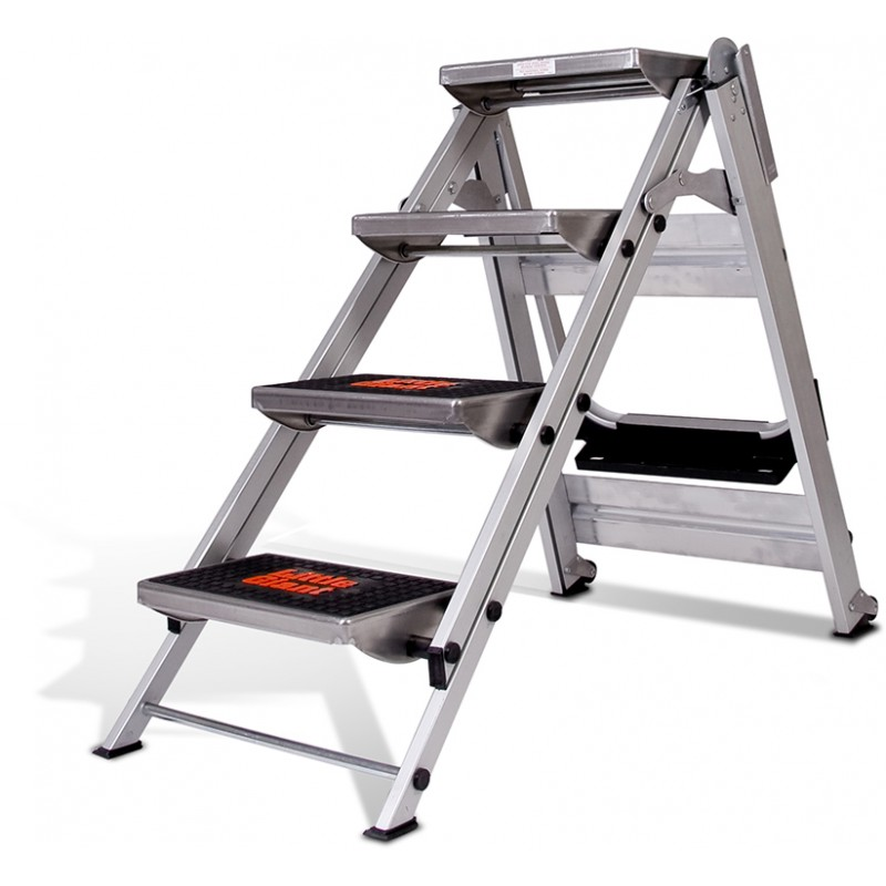 Little Giant Safety Step Stair Ladder 4 Steps No Rail 0