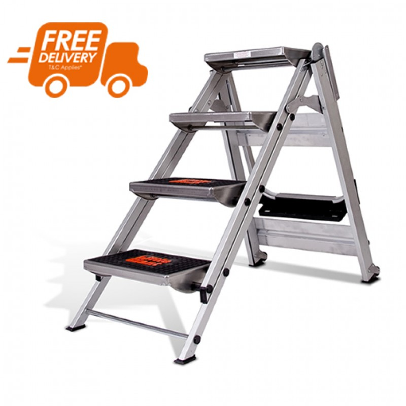 LITTLE GIANT Safety Step Stair Ladder 4 Steps No Rail 0.92m